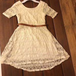 Other - Pretty lace girl's dress with tan belt